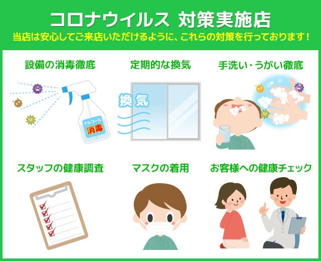 新型コロナウイルスに伴う感染防止の対策